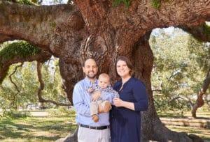 Family photo under tree